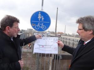 Alberbrücke Baustart Marx Koettnitz