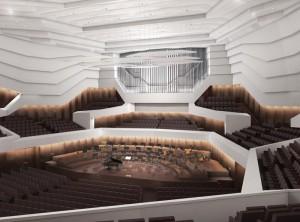 Konzertsaal mit Orgel