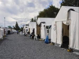 Das Zeltlager an der Bremer Straße ist Geschichte. Die letzten  Bewohner des Camps wurden am Wochenende auf winterfeste Wohnquartiere verteilt. Foto: drk sachsen
