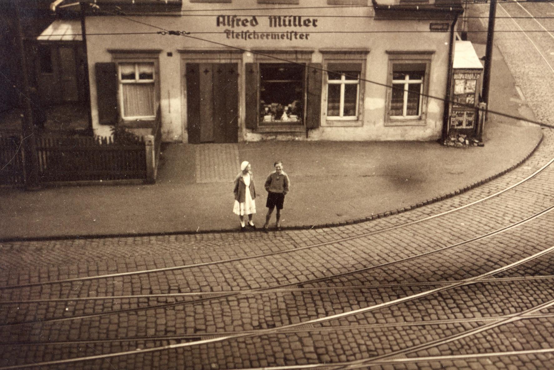 Klax Fleischerei Müller ca 1920