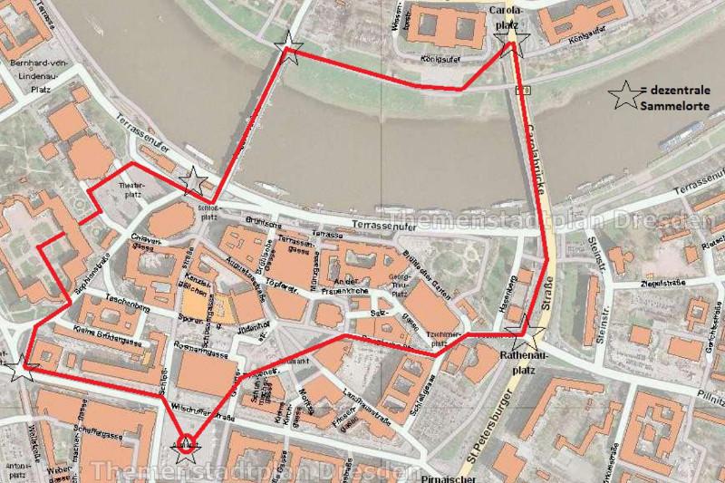 Plan Menschenkette 2016