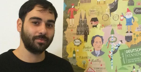 Am Goethe-Institut lernen 32 Flüchtlinge Sprache und Kultur kennen