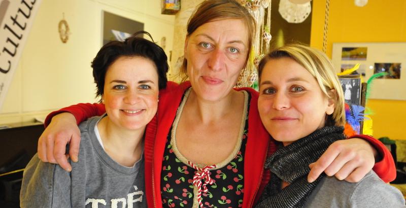 Frauke Angel, Elisa Renschen, Melissa Wagner