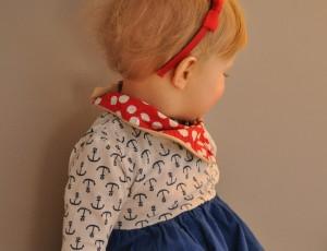 """Theresias Töchter stehen für die Kindersachen Modell. Die Kleidergrößen """"wachsen"""" mit den Mädchen mit. Bisher gibt es Sachsen bis Größe 116. Foto: M. Arndt"""