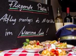 Flying Pasta: Eine kulinarische Pasta-Rundreise kann man heute im Mamma Mia im Herzen Dresdens in der Kreuzstraße 1-3 mitmachen. Foto:PR
